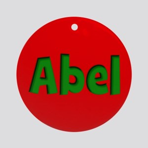 Abel Red and Green Ornament (Round)