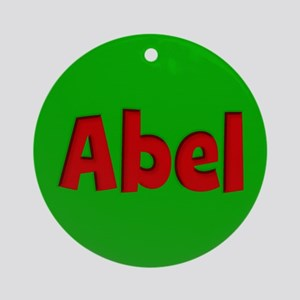 Abel Green and Red Ornament (Round)