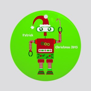 Personalized Christmas Robot Ornament