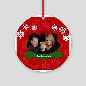 Christmas Photo Ornament (Round)