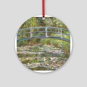 Monet Bridge over Water Lilies Ornament (Round)