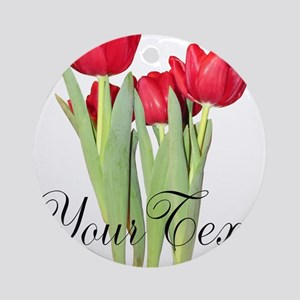 Personalizable Tulips Ornament (Round)
