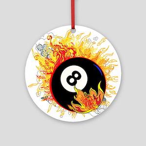 Fiery Eight Ball Ornament (Round)