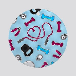 Fitness Love Pattern Blue and Purple Ornament (Rou