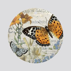 modern vintage butterfly Ornament (Round)