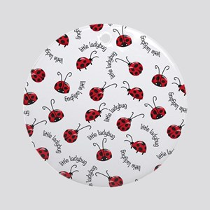 Little Red Ladybugs Ornament (Round)