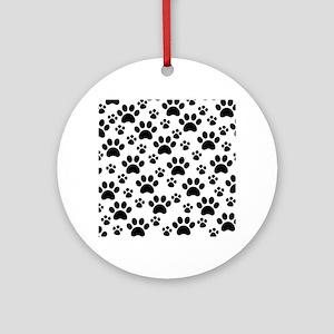 Dog Paws Round Ornament