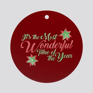 Wonderful Time Round Ornament