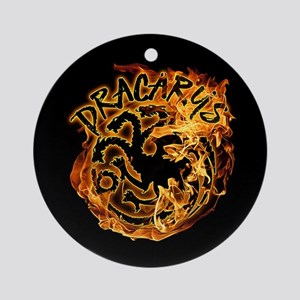 GOT Dracarys Flames Round Ornament