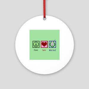 Cute Mini Golf Round Ornament