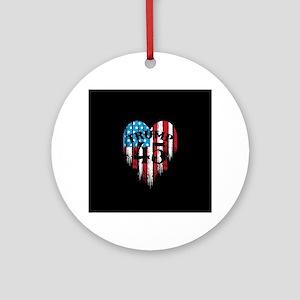 Trump America Round Ornament