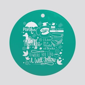 Gilmore Girls Collage Round Ornament