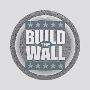 Build the Wall Round Ornament