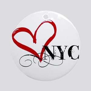 LOVE NYC FANCY Round Ornament