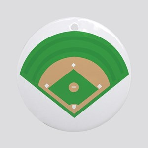BaseballField_Base Ornament (Round)