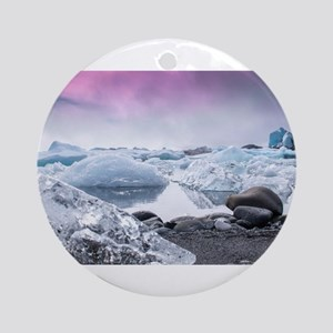 Glaciers of Iceland Ornament (Round)