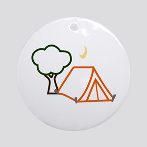 CAMPING APPLIQUE Ornament (Round)