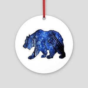 BEAR NIGHTS Round Ornament