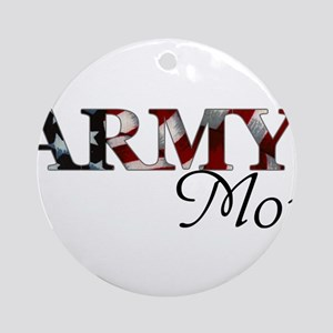 Army Mom (Flag) Round Ornament