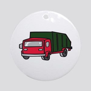 GARBAGE TRUCK Ornament (Round)