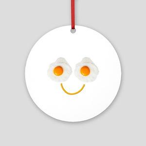 Mr. Egg Face Round Ornament