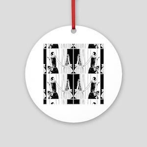 1920s flapper 2 Round Ornament