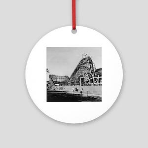 Coney Island Cyclone Roller Coaster Round Ornament