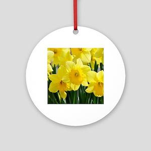 Trumpet Daffodil Round Ornament