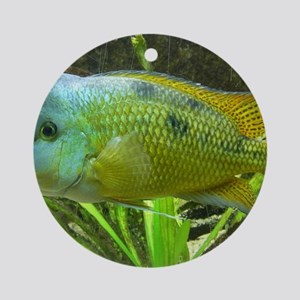 Wonderful Fish Round Ornament
