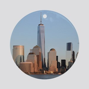 Lower Manhattan Skyline, New York C Round Ornament