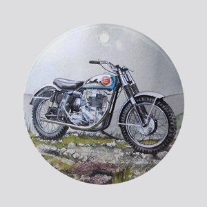 motorcycle Round Ornament