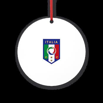 italian soccer emblem ornament round