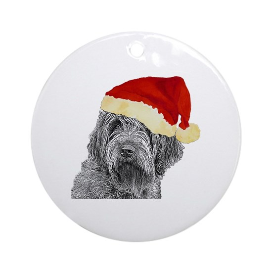 Wirehaired Pointing Griffon Round Ornament by Griffonpaws ...