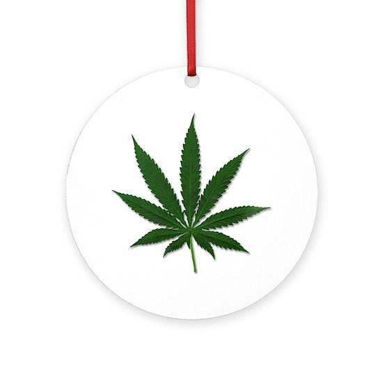 marijuana pot leaf ornament round by shirtsjunkie cafepress cafepress