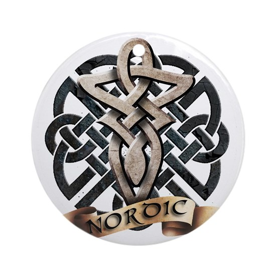 Viking Knot Tribal Celtic Sword Axe Round Ornament By Admin Store Cafepress