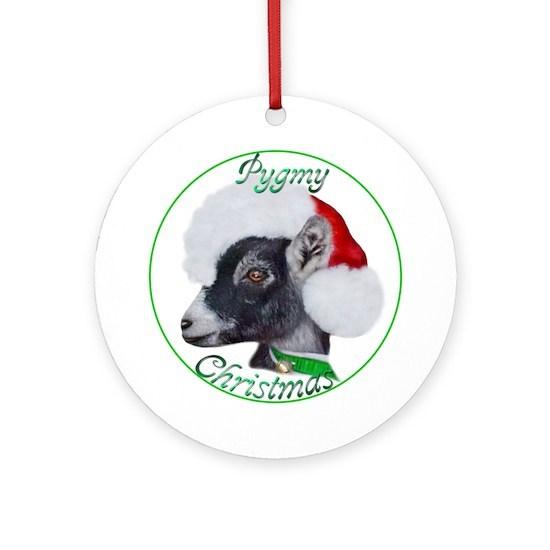 Pygmy Goat Christmas Ornament (Round) by goatlady ...