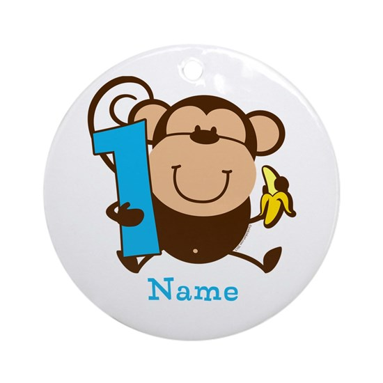 Personalized Monkey Boy 1st Birthday