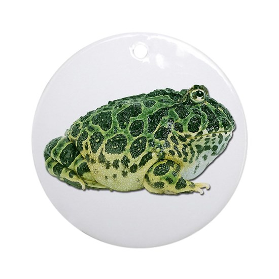Pacman Frog Photo Ornament Round By Cafepets Cafepress