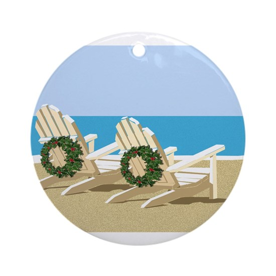 Beach Chairs with Wreaths
