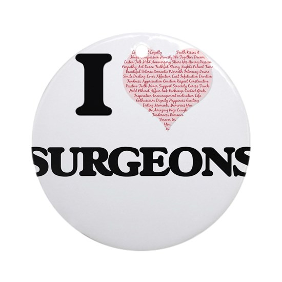 I love Surgeons (Heart made from words)