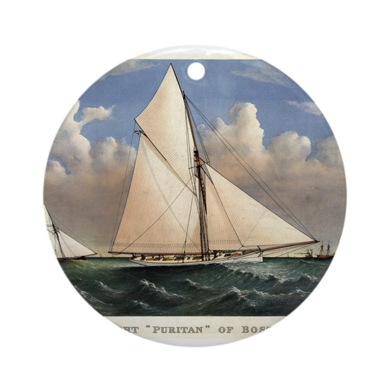 Yacht Puritan of Boston - 1885
