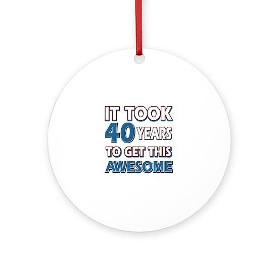 Cool 40 Years Birthday Designs