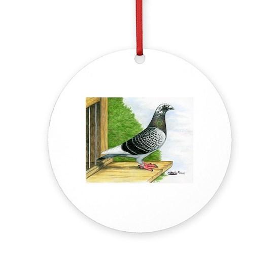 Racing Homer Pigeon Ornament (Round)