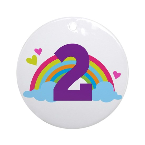 2nd Birthday Hearts and Rainbow