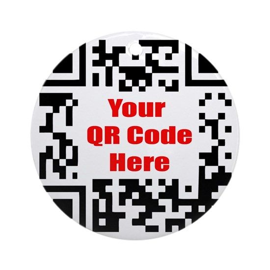 Personalized Qr Code Round Ornament