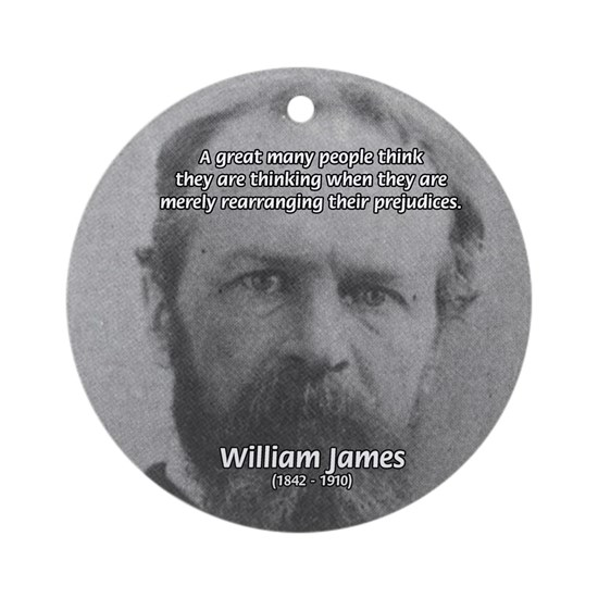 Funny Quotes William James Ornament Round By Famous Art Science
