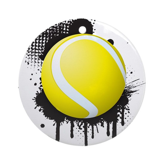 Abstract Black Ink Splotch with TENNIS Ball