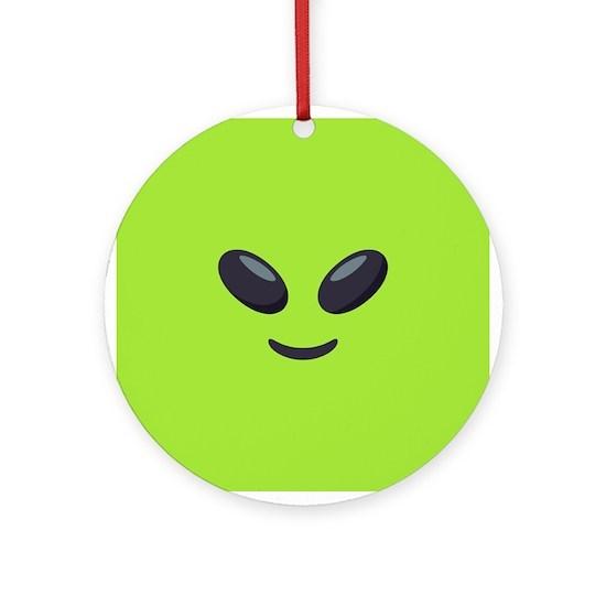 Alien Emoji Face Round Ornament By Emojione Cafepress