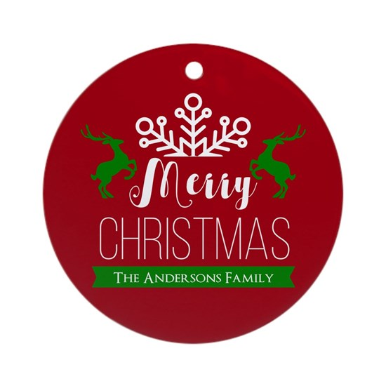 Red and Green Custom Christmas Family