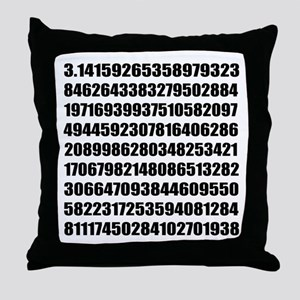 Pi number to many decimal places Throw Pillow